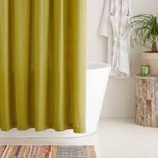 cotton shower curtain mustard yellow
