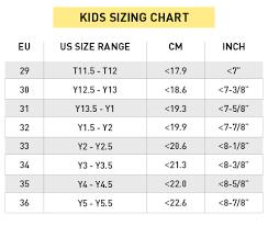 Vibram Size Chart Kids_sizing_chart Barefootinc