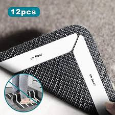 rug gripper new carpet grippers 12 pcs anti curling rug gripper flatten rug corners no curling sliding slipping protect your family double sided marked