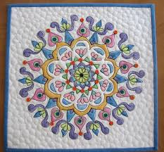 14 best Mandala quilts images on Pinterest | Mandalas, Embroidery ... & Mandala Quilt #3 by mamacjt, via Flickr Adamdwight.com