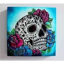 skull painting sugar skull painting