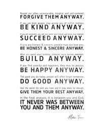 Mother Teresa Quotes Love Them Anyway Classy Download Mother Teresa Quote Love Them Anyway Ryancowan Quotes