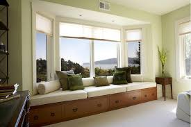 bay window designs in Living Room Contemporary with bolster alcove