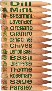garden herb markers pleasant design ideas herb garden plant pot markers 15 green w pics
