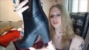 Hunter Fulbrooke Tall <b>Rainboots</b> (Wellies) with <b>high</b> heels! - YouTube
