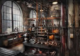 Steampunk Photograph - Steampunk - Room - Steampunk Studio by Mike Savad