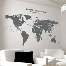 office world map. Around The World Map Wall Sticker Sofa Painting Decorative Corporate Office Den Removable Simplicity R