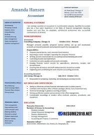 Resume Templates 2018 Interesting Accountant Resume Examples 28 Resume 28