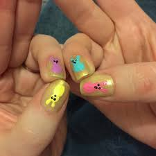 Easter Nail Art: Peeps! • Katie Crafts