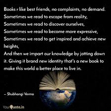 Escape Quotes Impressive Books R Like Best Friends Quotes Writings By Shubhangi Verma