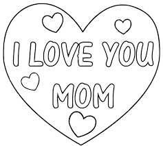 I Love You Mama Coloring Pages