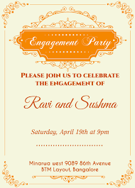 New Online Indian Wedding Invitation Templates Free Or Engagement
