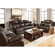 Living Room Set Ashley Furniture Ashley Furniture Branton Reclining Livingroom Set In Antique