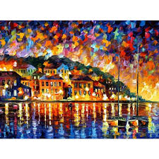 contemporary art greece knife oil painting canvas beautiful landscape pictures for wall decor