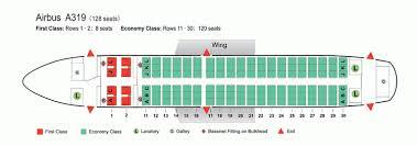 A319 Seating Chart Air China Airlines Airbus A319 Aircraft Seating Chart Air