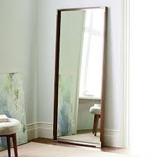 tall standing mirrors. Malone Campaign Floor Mirror - Walnut Tall Standing Mirrors