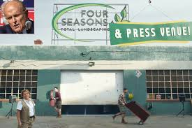 Rudy giuliani, president trump's attorney, speaks at a press conference held in the back parking lot of four seasons total landscaping on saturday in philadelphia. Super Bowl Ad Features Four Seasons Total Landscaping Owner People Com