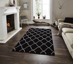 Living Room Area Rugs Contemporary Living Room 22 Dainty Sectional Sofa In Gloss Black Coffee Table