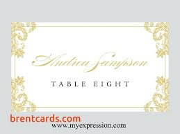 Fold Over Place Cards Wedding Table Number Templates Styles Amp Ideas Fold Over Place Card