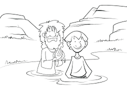 John The Baptist Coloring Page Baptism Coloring Page Coloring Page