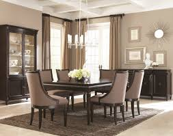 Contemporary Dining Room Furniture Four Black Leather Dining Chair - Modern white dining room sets