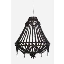 open wooden chandelier black preorder the block wood white clear light lamp shade lighting bead seed