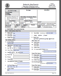 I 129f Sample Form Petition For Alien Fiance Visa Tutor