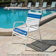 In pool furniture Above Ground C50 Strap Patio Dining Chair Homedit C50 Strap Patio Dining Chair Commercialgrade Pool Furniture Ak
