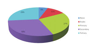 Pie Chart Showing Level Of Education Of Patients Fig 3 Bar