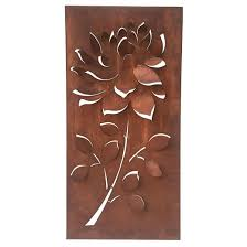 metal flower wall art bronze foreside home garden target