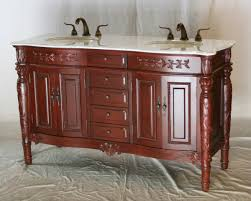 60 inch double sink bathroom vanity antique traditional style cherry color 60 wx22 dx36 h s2206k