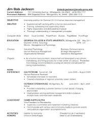 Resume Objective For Internship – Kappalab