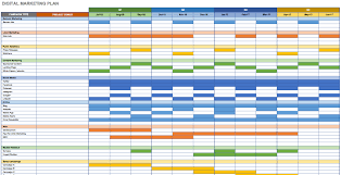 schedule plan template free marketing plan templates for excel smartsheet