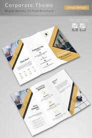 Graphic Design Brochure Templates Clean Tri Fold Brochure Corporate Identity Template 75942