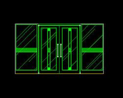 sliding doors glass free autocad drawing cad blocks