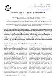 current status and outlook of renewable energy development in  current status and outlook of renewable energy development in ia pdf available