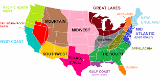 the midwest region map of midwestern united states usa in for