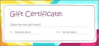 Gift Certificate Free Template Download Gift Certificate Template
