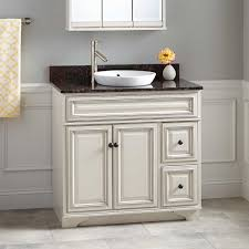traditional style antique white bathroom: quot misschon vanity for semi recessed sink rustic off white