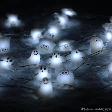Indoor Halloween Lights Battery Operated 3m 10ft 40led Skull Ghost Shaped Led String Lights Decoration Halloween Indoor Outdoor Lights With Remote Bedroom String Lights Star