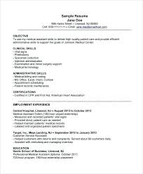 Sample Resumes For Medical Assistant Professional Resume Templates