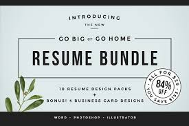 Go Resume Inspiration Go Big Or Go Home The Resume Bundle Resume Templates Creative