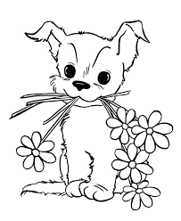 Coloring Pages Puppies Printables At Getdrawingscom Free For