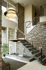 View In Gallery. An Interior Stone Wall ...