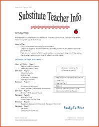 Substitute Teacher Resume Examples Program Format