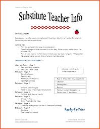 substitute teacher resume examples sample substitute teacher resume - Teacher  Responsibilities For Resume