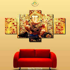 smart inspiration ganesh wall art home wallpaper 3 4 5 pieces elephant buddha golden pictures canvas