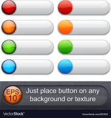 Rounded Glossy Buttons Royalty Free Vector Image