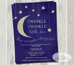 Stars Invitation Template Twinkle Twinkle Little Star Baby Shower Invitation Shy Socialites