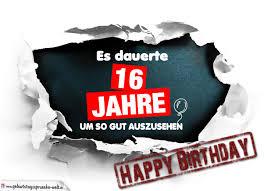 16 Geburtstag Lustige Geburtstagskarte Kostenlos